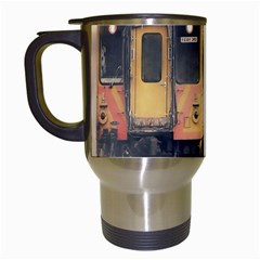 Manipulation Ghost Train Painting Travel Mugs (white) by AnjaniArt
