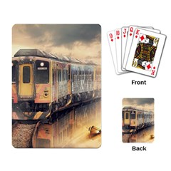 Manipulation Ghost Train Painting Playing Cards Single Design by AnjaniArt