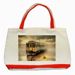 Manipulation Ghost Train Painting Classic Tote Bag (red) by AnjaniArt