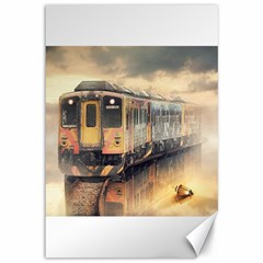 Manipulation Ghost Train Painting Canvas 12  X 18  by AnjaniArt