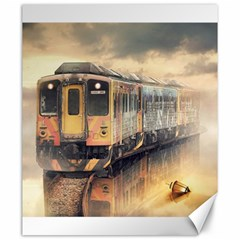 Manipulation Ghost Train Painting Canvas 20  X 24  by AnjaniArt