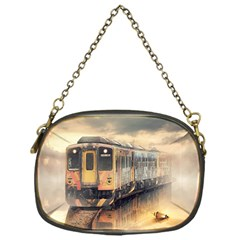Manipulation Ghost Train Painting Chain Purse (one Side) by AnjaniArt