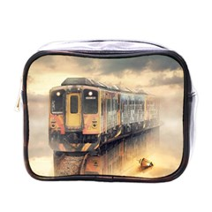 Manipulation Ghost Train Painting Mini Toiletries Bag (one Side) by AnjaniArt