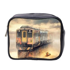 Manipulation Ghost Train Painting Mini Toiletries Bag (two Sides) by AnjaniArt