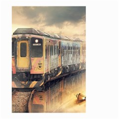 Manipulation Ghost Train Painting Small Garden Flag (two Sides) by AnjaniArt
