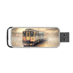 Manipulation Ghost Train Painting Portable Usb Flash (one Side) by AnjaniArt