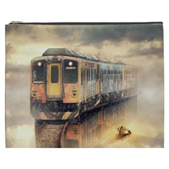 Manipulation Ghost Train Painting Cosmetic Bag (xxxl) by AnjaniArt