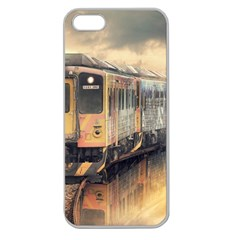 Manipulation Ghost Train Painting Apple Seamless Iphone 5 Case (clear)
