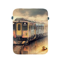Manipulation Ghost Train Painting Apple Ipad 2/3/4 Protective Soft Cases