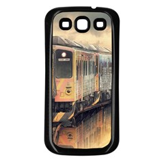 Manipulation Ghost Train Painting Samsung Galaxy S3 Back Case (black) by AnjaniArt