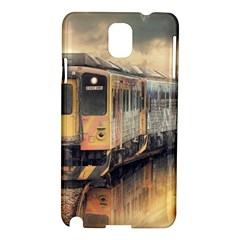Manipulation Ghost Train Painting Samsung Galaxy Note 3 N9005 Hardshell Case by AnjaniArt