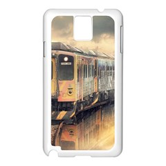 Manipulation Ghost Train Painting Samsung Galaxy Note 3 N9005 Case (white) by AnjaniArt