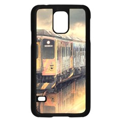 Manipulation Ghost Train Painting Samsung Galaxy S5 Case (black) by AnjaniArt