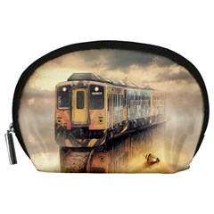 Manipulation Ghost Train Painting Accessory Pouch (large) by AnjaniArt