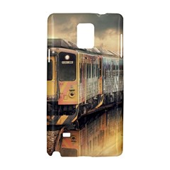 Manipulation Ghost Train Painting Samsung Galaxy Note 4 Hardshell Case by AnjaniArt