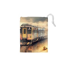 Manipulation Ghost Train Painting Drawstring Pouch (xs) by AnjaniArt