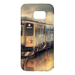 Manipulation Ghost Train Painting Samsung Galaxy S7 Edge Hardshell Case by AnjaniArt