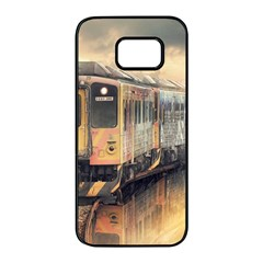 Manipulation Ghost Train Painting Samsung Galaxy S7 Edge Black Seamless Case by AnjaniArt
