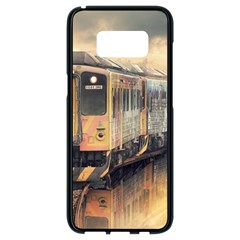 Manipulation Ghost Train Painting Samsung Galaxy S8 Black Seamless Case by AnjaniArt