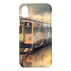 Manipulation Ghost Train Painting Apple Iphone X Hardshell Case by AnjaniArt