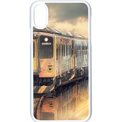 Manipulation Ghost Train Painting Apple Iphone X Seamless Case (white)