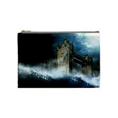 Manipulated Lodon Bridge Water Waves Cosmetic Bag (medium)