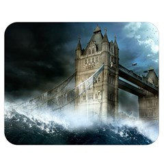 Manipulated Lodon Bridge Water Waves Double Sided Flano Blanket (medium)  by AnjaniArt