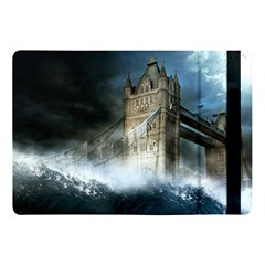 Manipulated Lodon Bridge Water Waves Apple Ipad 9 7 by AnjaniArt