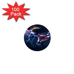 Lightning Volcano Manipulation Volcanic Eruption 1  Mini Buttons (100 Pack)  by AnjaniArt