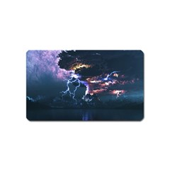 Lightning Volcano Manipulation Volcanic Eruption Magnet (name Card) by AnjaniArt