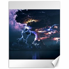 Lightning Volcano Manipulation Volcanic Eruption Canvas 12  X 16  by AnjaniArt