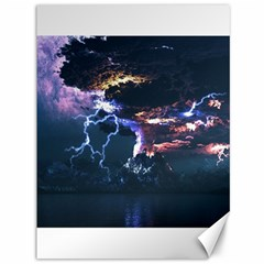 Lightning Volcano Manipulation Volcanic Eruption Canvas 36  X 48  by AnjaniArt