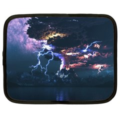 Lightning Volcano Manipulation Volcanic Eruption Netbook Case (xl) by AnjaniArt
