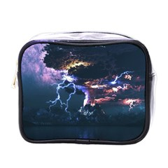 Lightning Volcano Manipulation Volcanic Eruption Mini Toiletries Bag (one Side) by AnjaniArt