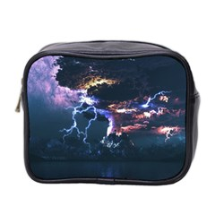 Lightning Volcano Manipulation Volcanic Eruption Mini Toiletries Bag (two Sides) by AnjaniArt