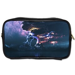 Lightning Volcano Manipulation Volcanic Eruption Toiletries Bag (two Sides) by AnjaniArt
