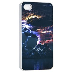 Lightning Volcano Manipulation Volcanic Eruption Apple Iphone 4/4s Seamless Case (white) by AnjaniArt