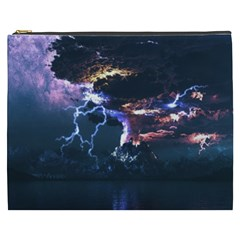 Lightning Volcano Manipulation Volcanic Eruption Cosmetic Bag (xxxl) by AnjaniArt