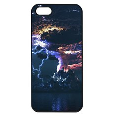 Lightning Volcano Manipulation Volcanic Eruption Apple Iphone 5 Seamless Case (black) by AnjaniArt
