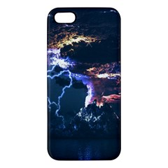 Lightning Volcano Manipulation Volcanic Eruption Apple Iphone 5 Premium Hardshell Case by AnjaniArt