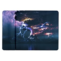 Lightning Volcano Manipulation Volcanic Eruption Samsung Galaxy Tab 10 1  P7500 Flip Case