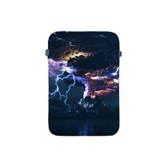 Lightning Volcano Manipulation Volcanic Eruption Apple Ipad Mini Protective Soft Cases by AnjaniArt