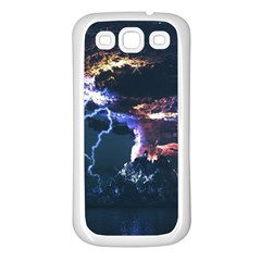 Lightning Volcano Manipulation Volcanic Eruption Samsung Galaxy S3 Back Case (white) by AnjaniArt