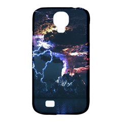 Lightning Volcano Manipulation Volcanic Eruption Samsung Galaxy S4 Classic Hardshell Case (pc+silicone) by AnjaniArt