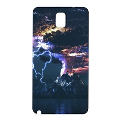 Lightning Volcano Manipulation Volcanic Eruption Samsung Galaxy Note 3 N9005 Hardshell Back Case by AnjaniArt