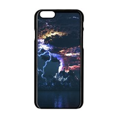 Lightning Volcano Manipulation Volcanic Eruption Apple Iphone 6/6s Black Enamel Case by AnjaniArt
