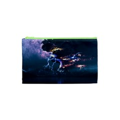 Lightning Volcano Manipulation Volcanic Eruption Cosmetic Bag (xs)