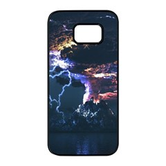 Lightning Volcano Manipulation Volcanic Eruption Samsung Galaxy S7 Edge Black Seamless Case by AnjaniArt