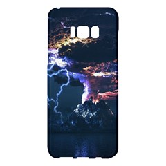 Lightning Volcano Manipulation Volcanic Eruption Samsung Galaxy S8 Plus Hardshell Case  by AnjaniArt