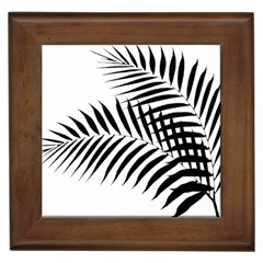 Palm Leaves Framed Tiles by AnjaniArt